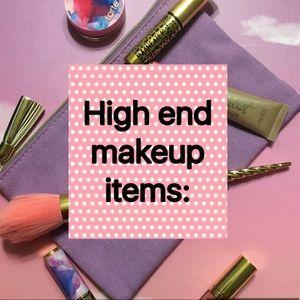 Makeup items: